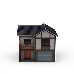 川南民居3d模型3d模型