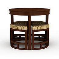 创意实木餐桌餐椅组合3D模型3d模型