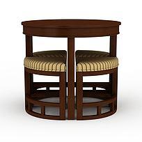 创意实木餐桌餐椅组合图片