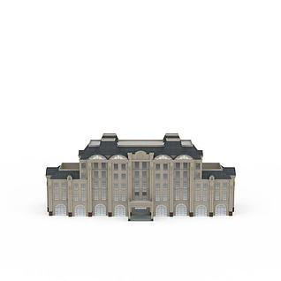 现代行政办公楼3d模型3d模型