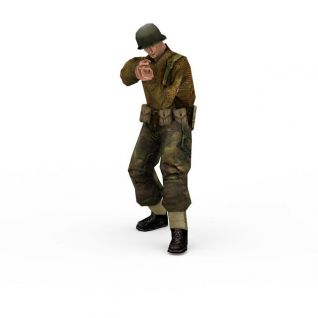 军人欧美士兵战士3d模型