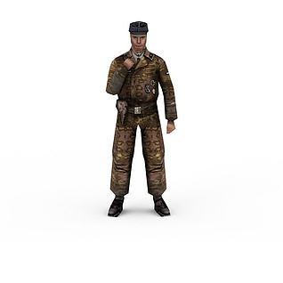军人士兵战士男人3d模型