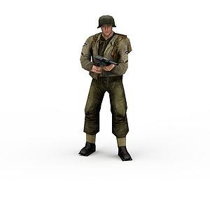 軍人士兵戰士男人模型3d模型
