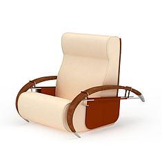 高档单人皮沙发3D模型3d模型