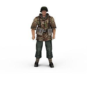 軍人模型3d模型