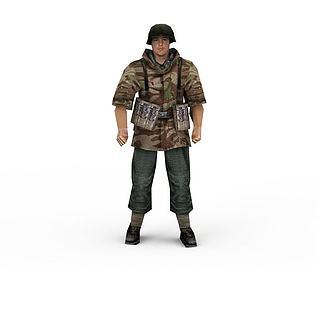 军人3d模型