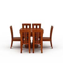 简约中式实木餐桌餐椅图片