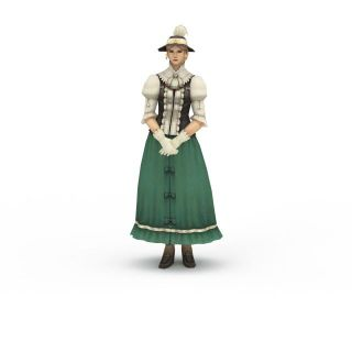 npc游戏人物女人3d模型
