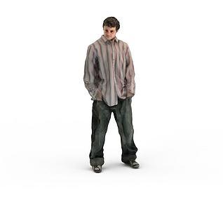 写实人物男人3d模型