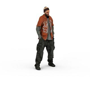 写实人物中东男人3d模型