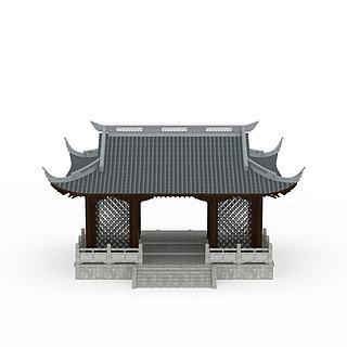 古建筑大门3d模型