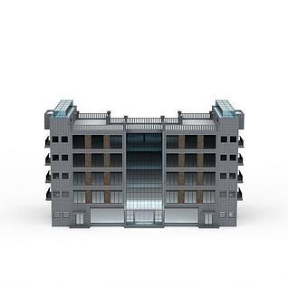 现代办公楼3d模型3d模型