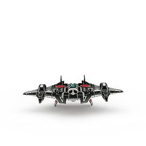 红色警戒游戏装备飞机模型3d模型