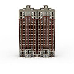 高层建筑大楼大厦居民楼模型3d模型