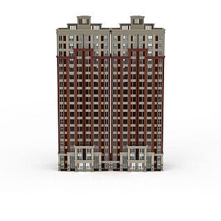 高层建筑大楼大厦居民楼3d模型3d模型