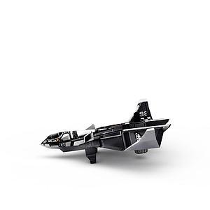 红色警戒美军飞机游戏装备模型3d模型