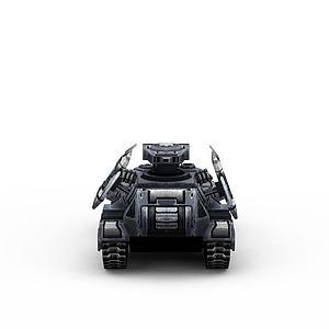 3d紅色警戒美軍<font class='myIsRed'>坦克</font>游戲裝備模型