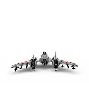 红色警戒苏联飞机游戏装备模型3d模型