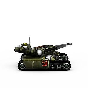 3d紅色警戒蘇聯<font class='myIsRed'>坦克</font>游戲裝備模型