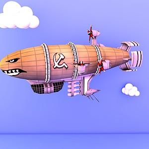 紅色警戒蘇聯飛機游戲裝備模型3d模型