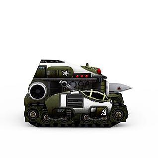 红色警戒苏联坦克3d模型