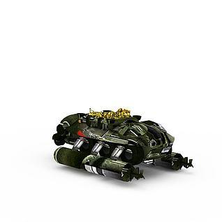 红色警戒游戏战舰3d模型