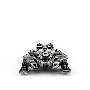 红色警戒运输机游戏装备3d模型