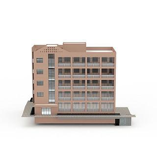 学校<font class='myIsRed'>教学楼</font>3d模型