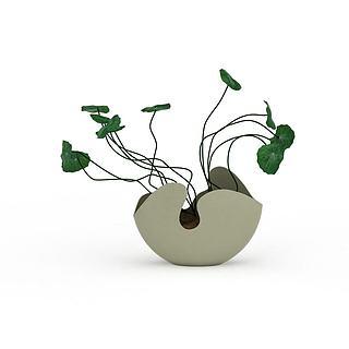 创意绿植盆栽3d模型