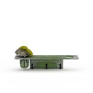 创意鲜花盆栽3d模型