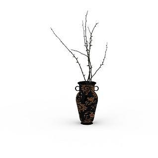 花瓶装饰3d模型3d模型