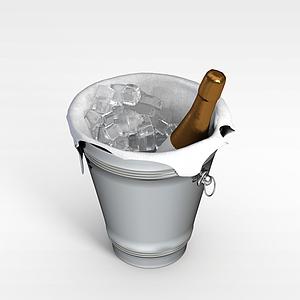 冰鎮酒模型3d模型