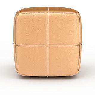 个性软包沙发凳3d模型