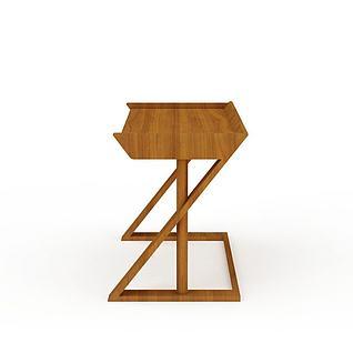 书桌课桌3d模型