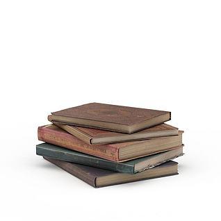 复古外文书3d模型3d模型