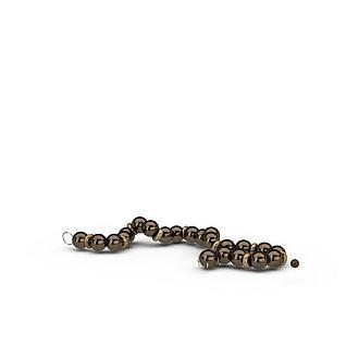 珍珠项链首饰3d模型