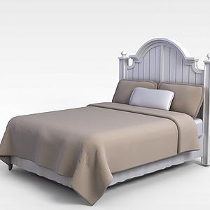 歐式軟雙人床模型
