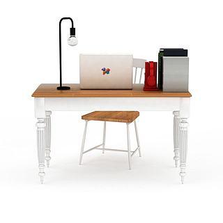 现代办公桌椅组合3d模型