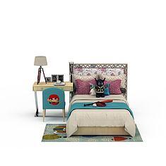 卡通儿童床3D模型3d模型