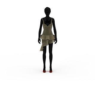 服装模特3d模型