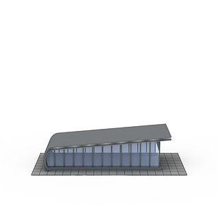 停车场入口3d模型3d模型