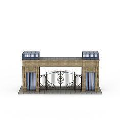 欧式建筑大门3D模型3d模型