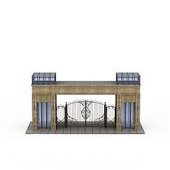 欧式建筑大门模型3d模型