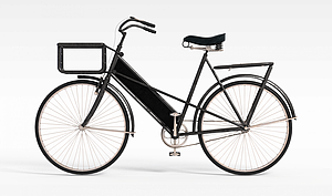 游戏场景道具自行车模型3d模型