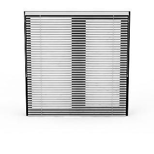 百叶窗帘3d模型