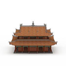 3d寺庙古建模型