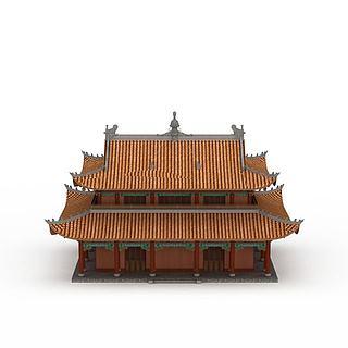 寺庙<font class='myIsRed'>古建</font>3d模型