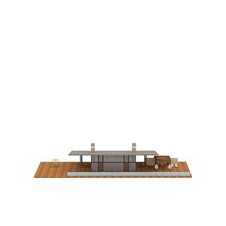 休闲露台3d模型