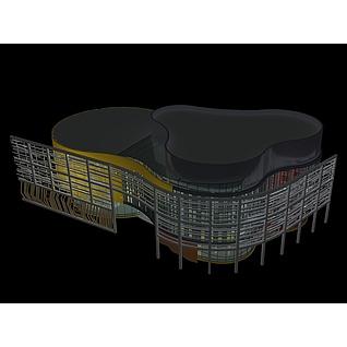 商业楼3d模型3d模型