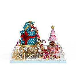 圣诞美陈3D模型